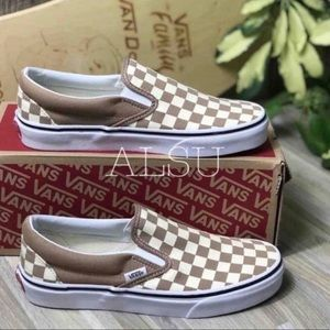 VANS Classic Slip On Tger Checkerboard ChocolatE W